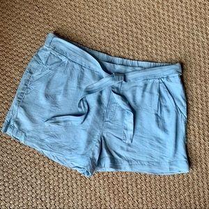 JOE FRESH Chambray Tie Waist Shorts w/ Pockets XL